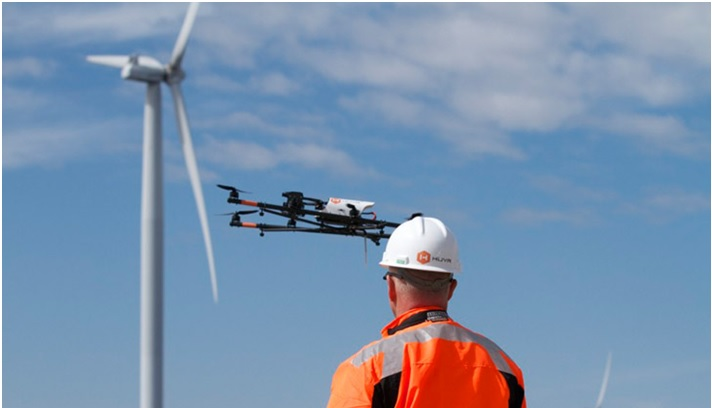 Increase in Drone Assisted Wind Turbine's Inspection